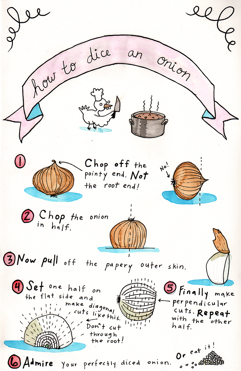 How to dice an onion